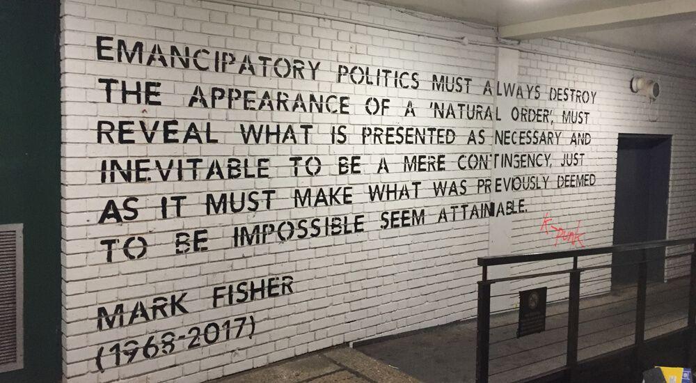Institut für Betrachtung - Christian Werthschulte im Gespräch über Mark Fisher (August 2017)